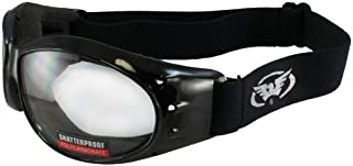 Global Vision Eliminator Motorcycle Goggles Clear Shatterproof Anti-Fog Lens