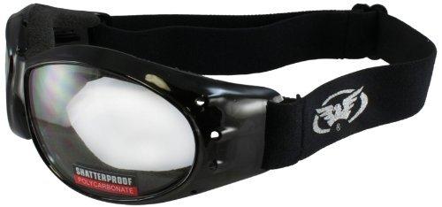 Global Vision Eliminator Motorcycle Goggles Clear Shatterproof Anti-Fog Lens