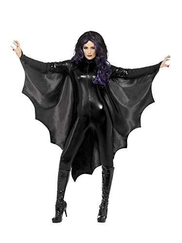 shoperama Vampir Fledermaus-Flügel Umhang Damen Vampirin Halloween-Kostüm Fledermaus Flügel Cape Zubehör Accessoire