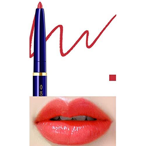 Yiwa Double Tête Cosmétique Professionnel Lipliner Imperméable Dame Charme Lèvres Lèvres Doux Crayon Contour Rouge À Lèvres 10#