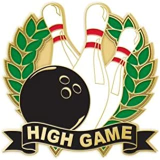 High Game Bowling Lapel Pins - Enamel Bowling Pin Awards Prime