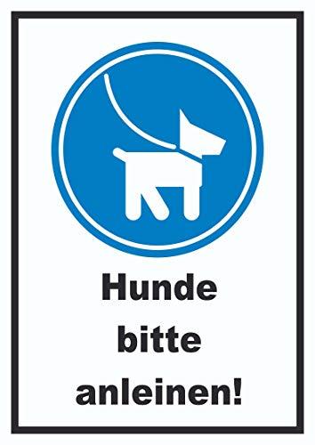 HB-Druck Hunde Bitte anleinen Schild A5 (148x210mm)