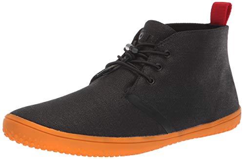 Vivobarefoot Women's GOBI II Classic Desert Boot, Black/Orange, 35 D EU (5.5 US)