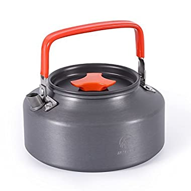 REDCAMP 1.1L Camping Kettle Coffee Pot, Anodised Aluminum Camping Teapot Compact and Lightweight, FDA Approved