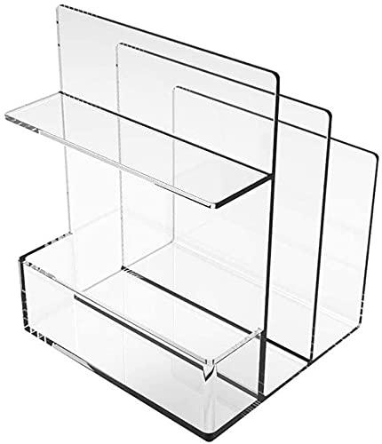 DaPengNB Bookshelf Multifunction Partition Desktop Bookshelf Suministros de Oficina Cosmetic Storage Rack, Organizador de estantería de Estudiante Simple Creativo para Libros ( Color : Clear )