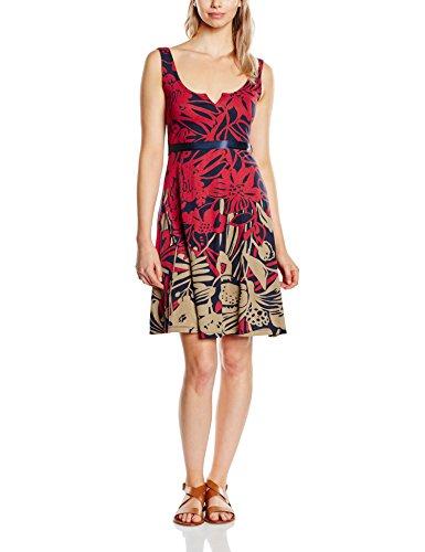 Desigual Damen A-Linie Kleid JASMINE, Knielang, Rot (SANGRIA 3161), Gr.XL(Herstellergröße: XXL)