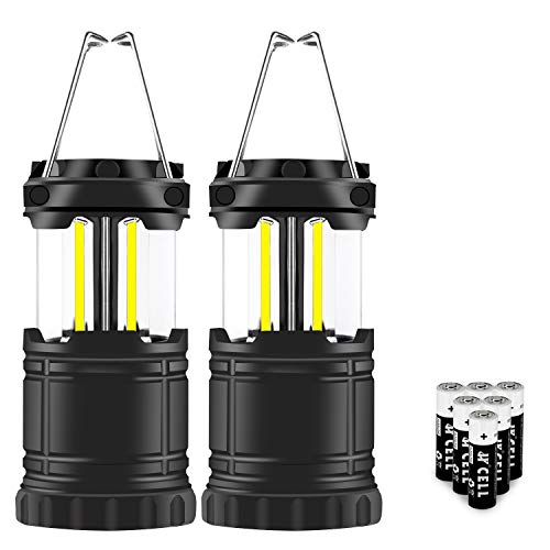 2 pack Mini Portable LED Collapsible Camping Lantern Must Have During Hurricanes, Emergencies, Storms, Outages