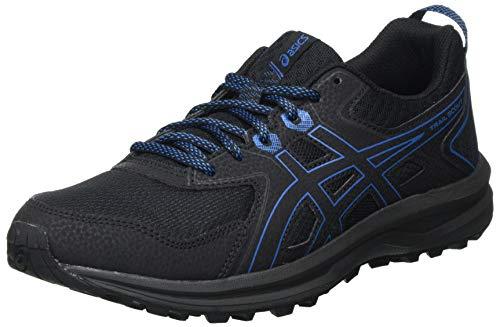 Asics Scout, Trail Running Shoe Hombre, Black/Reborn Blue, 44 EU