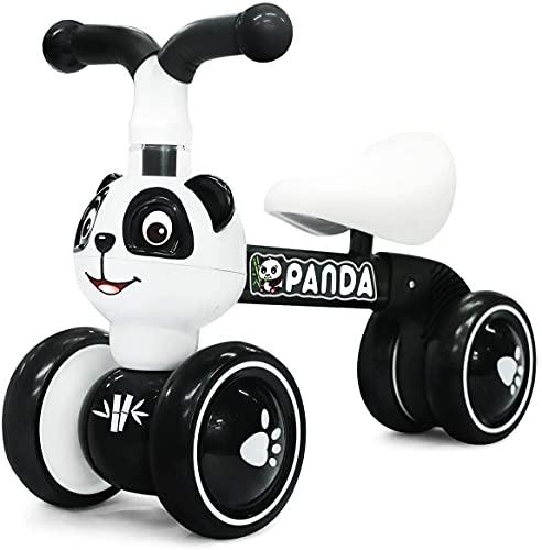 YGJT Bicicletas sin Pedales para Niños 1 Año(10-36 Meses), Triciclos Bebes Correpasillos para Ejercitar la Capacidad de Equilibrio de Niños, Juguetes Regalos para Cumpleaños, el Año Nuevo (Panda)