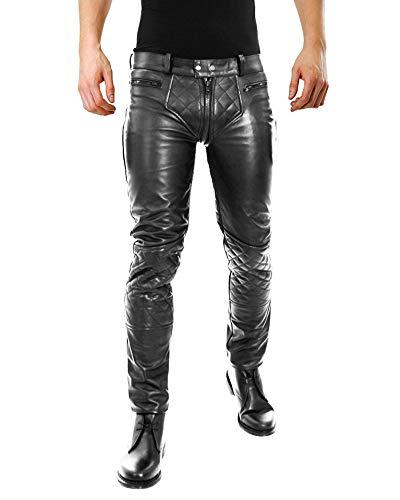 Bockle 5G-Zip Stretch Lederhose, Schwarz