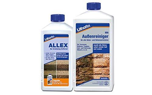 Lithofin MN Außenreiniger 1 l + Lithofin ALLEX 500 ml - gratis Reiniger-Set für den AUßenbereich
