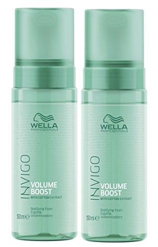 2er Volume Boost Volumen Schaum Invigo Wella Professionals mit Baumwoll Extrakt je 150 ml = 300 ml