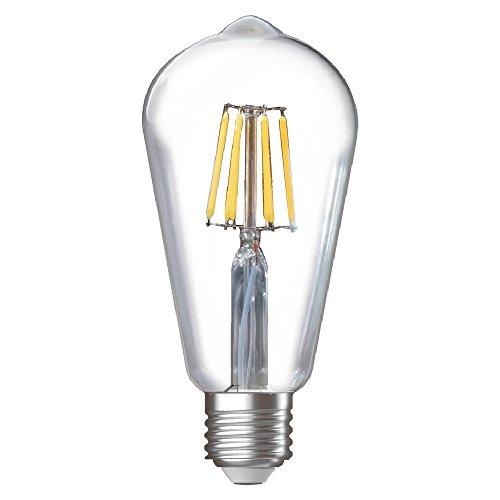 スタイルド LED電球 口金直径26mm 【60W相当・830ルーメン・全方向タイプ・電球色】 フィラメント クリア電球タイプ エジソン電球 ST64 YDFC60L1