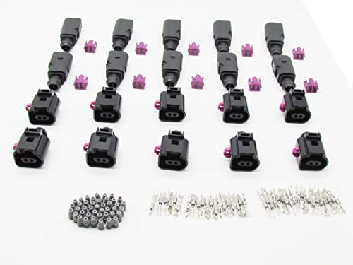 CNKF 5 sets tyco amp 3 pin male female auto electrical connector includes terminals and seals for BMW MINI Mercedes