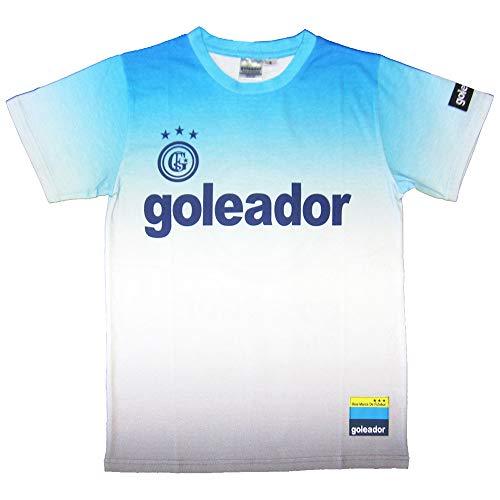 goleador(ゴレアドール) ベーシックロゴジェットプリントTシャツ G-2336 Lサイズ ブルー