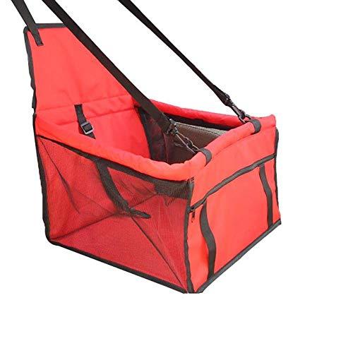 ZKBD-XTQ Pet Folding Bag Dog Carrier Pad Veilig Draaghuis Waterdichte Kat Puppy Bag Hond Auto Zitzak Mand Huisdier Producten Huisdier benodigdheden, as shown, Rood