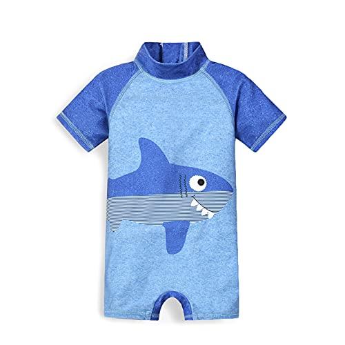 Trajes de Baño para Niños Banador Bebe Proteccion UV UPF 50+ Manga Corta Neopreno Ropa de Playa Verano Regalos Niños de 1-2 años