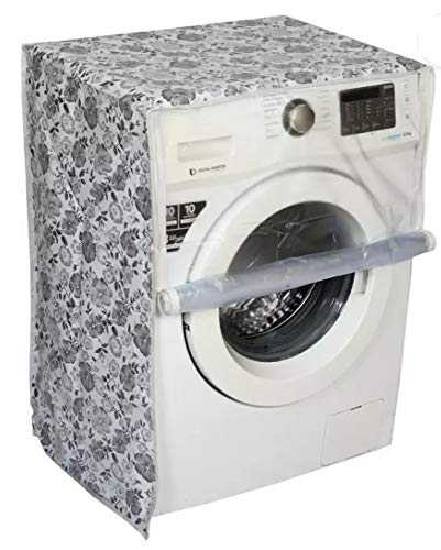 Front Loading Washing Machine Cover Suitable for LG, Samsung, IFB, Whirlpool, Haier, Voltas, Bosch, Siemens 7 Kg, 7.5 Kg, 8 Kg, 8.5 Kg, 9 Kg, 10 Kg with Size 60cmsX60cmsX83cms (Size Match
