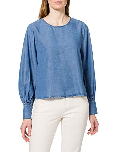 Only ONLRUBY Tencel LS Life DNM Shirt QYT Blusas, Medio De Mezclilla Azul, M para Mujer