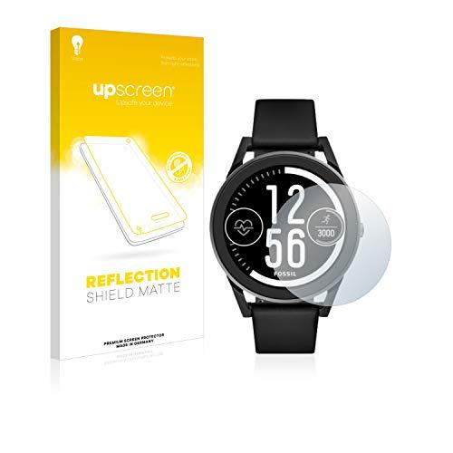 upscreen Entspiegelungs-Schutzfolie kompatibel mit Fossil Q Control (3.Gen) – Anti-Reflex Bildschirmschutz-Folie Matt
