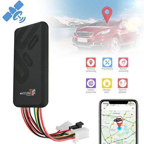 SIXCUP GPS Tracker GPS GPRS GSM Alarm Car Tracker für Auto/Fahrzeug/Motorrad Tracking Device Professional Anti-verloren mit iOS und Android-App (Schwarz)