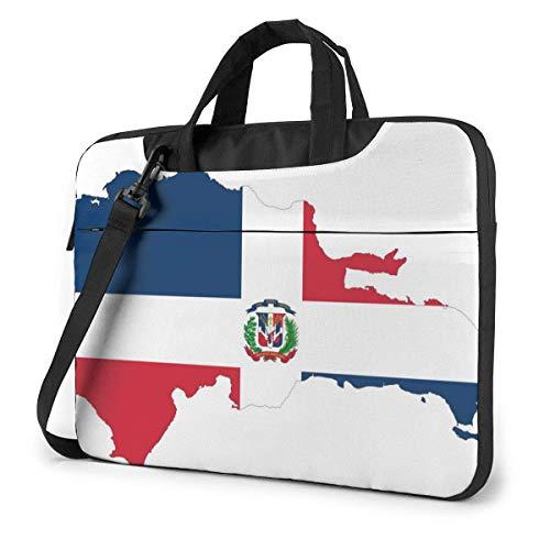 Bolsa para portátil, Tableta, Mapa de República Dominicana, Bandera, Funda para portátil, Estuche para portátil, Estuche para portátil, Ultrafino y Duradero para Mujeres y Hombres