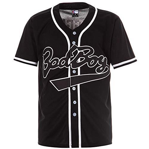 MOLPE 'BadBoy' #10 Biggie Baseball Jersey S-XXXL schwarz 90S Hip Hop Kleidung für Party genäht Buchstaben und Zahlen - Schwarz - 3X-Groß