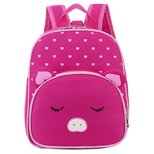 Baby Backpacks Animal,Cute Ears Baby Rucksacks Nursery Shoulder Bags for Toddler Boys and Girls Small-6L-Pink_Pig
