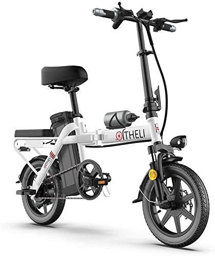 Bici electrica, Bicicleta eléctrica plegable plegable bicicletas altura ajustable portátil for adultos Bicicletas Bicicletas Comodidad 350W aleación de aluminio de bicicletas con 3 Modos de Conducción