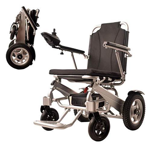 WENZHEN Tollstuhl elektrisch faltbar,Elektrorollstuhl Faltbarer, Leichter, langlebiger Rollstuhl, sicher und einfach zu fahrende Rollstühle