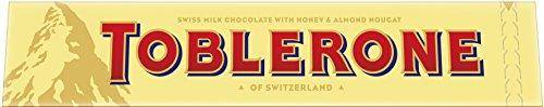 Toblerone Schokolade - Feine Schweizer Milchschokolade mit Honig- und Mandelnougat - Großtafel - 2 x 360g