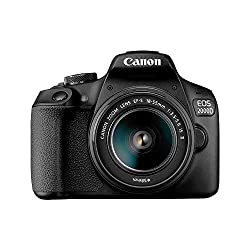 Take elegant photos and movies with background blur Easily connect, shoot and share on the move Express your creativity with easy to follow guidance Explore the power of DSLR and interchangeable lenses EOS 2000D body, EF-S 18-55 mm f/3.5-5.6 IS II, E...