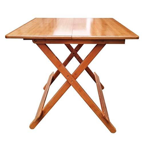 Klaptafel tuintafel eettafel bamboe eenvoudige tafel kleine apartmenthuis draagbaar 4 personen eettafel vierkant massief hout (grootte: diameter 58cm) Diameter 68cm