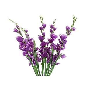 "Silk Flower Arrangements Gladiolus Bush Artificial Silk Flowers 26"" Bouquet 5-5971 Purple"