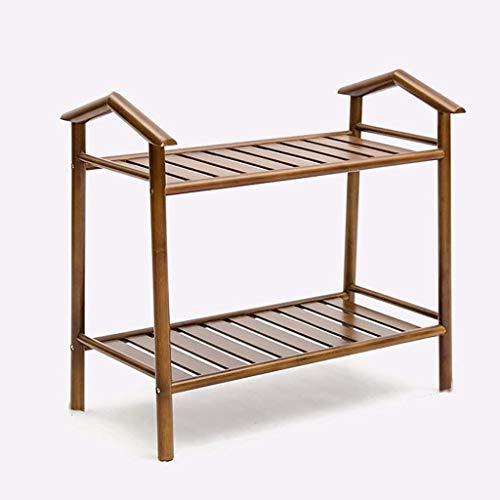 Wddwarmhome Zapatero de bambú de madera maciza para el hogar y zapatero de bambú (color: 28 x 60 x 57 cm)