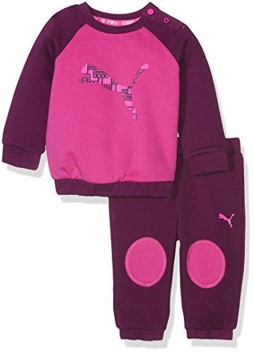 PUMA Baby Set Style MiniCat ESS Crew Jogger FL, Fuchsia Purple-Magenta Purple, 86