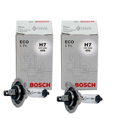 2 bombillas para faros delanteros Bosch Eco H7 12 V 55 W 499