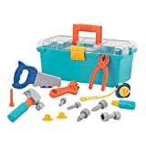 Battat – Builder Tool Box – Durable Kids Tool Set – Pretend Play Construction Tool Kit For Kids 3 Years+ (15-Pcs)