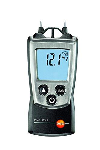 Testo 0560 6060 606-1 handliches Holz-/Materialfeuchte-Messgerät, inklusive Schutzkappe, Kalibrier-Protokoll und Batterien