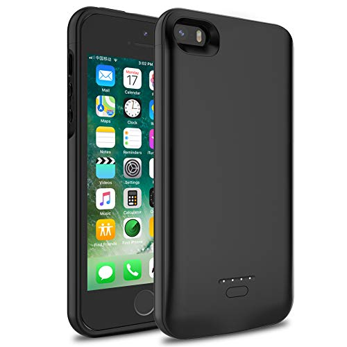 Battery Charging Case for iPhone 5S SE 5, 4000mah Extended Rechargeable...