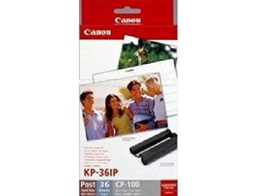 Canon KP-36IP - Juego de cartuchos de tinta para impresora SELPHY CP330, CP520, CP530, CP750, CP760, CP770, CP780, CP790, CP800, CP820, CP900, CP910 KP36IP CANON PAP+TTR (10x15) 7737 cm. A001 - 36 hojas fotográficas brillantes