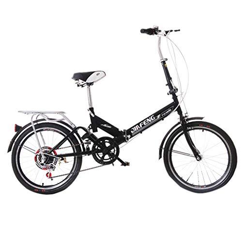 ZXYY Fahrrad Klapprad Universal 6 Arten von variablen Geschwindigkeit 20-Zoll-Rad Fahrrad tragbare Erwachsene Männer und Frauen Fahrrad (Farbe: Weiss Größe: 155 * 30 * 94 cm)