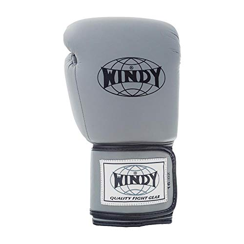 WINDY Proline Boxhandschuhe, Grau, Muay...