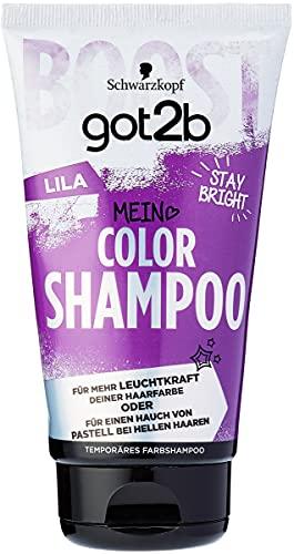 SCHWARZKOPF GOT2B Color Shampoo, Haarfarbe Lila, 1er Pack (1 x 150 ml)