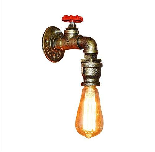 XZYP Industrieller Steampunk LED-Schreibtischlampe, OOD Basis mit Eisen Piping Loft Style Vintage antiken Licht, E27