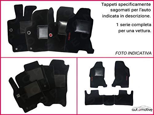 Union Textile Tappetini su Misura Moquette Neri Compatibile con Porsche Carrera 997 dal 2006 al 2012