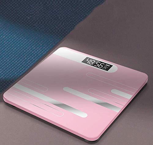 WZLJW Sufengshop Baño Pavimento Cuerpo Escala de Cristal Inteligente electrónica Escalas de Carga USB Pantalla LCD con un Peso Corporal Peso Hogar Digital Escala-B ggsm (Color : B)