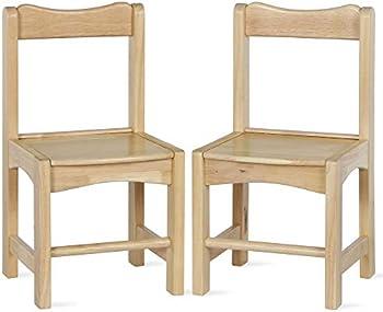 2-Pack Bertini Kids Domino Solid Wood School Chairs