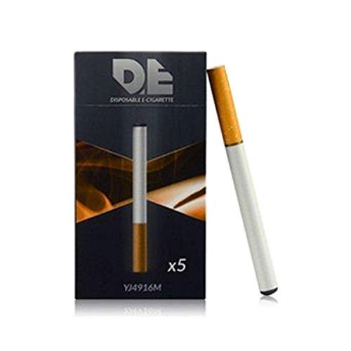 DE - sigaretta elettronica usa e getta (pacchetto di 5 pezzi,) il gusto del tabacco con 500 tiri 280mAh batteria e il volume del vapore (non contiene tabacco ne  nicotina)