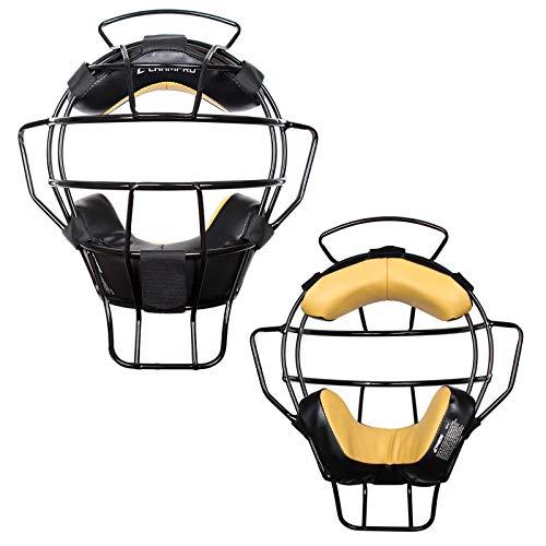CHAMPRO 18oz. Lightweight Baseball/Softball Adult Umpire Face Mask with Moisture-Wicking Dri-Gear...